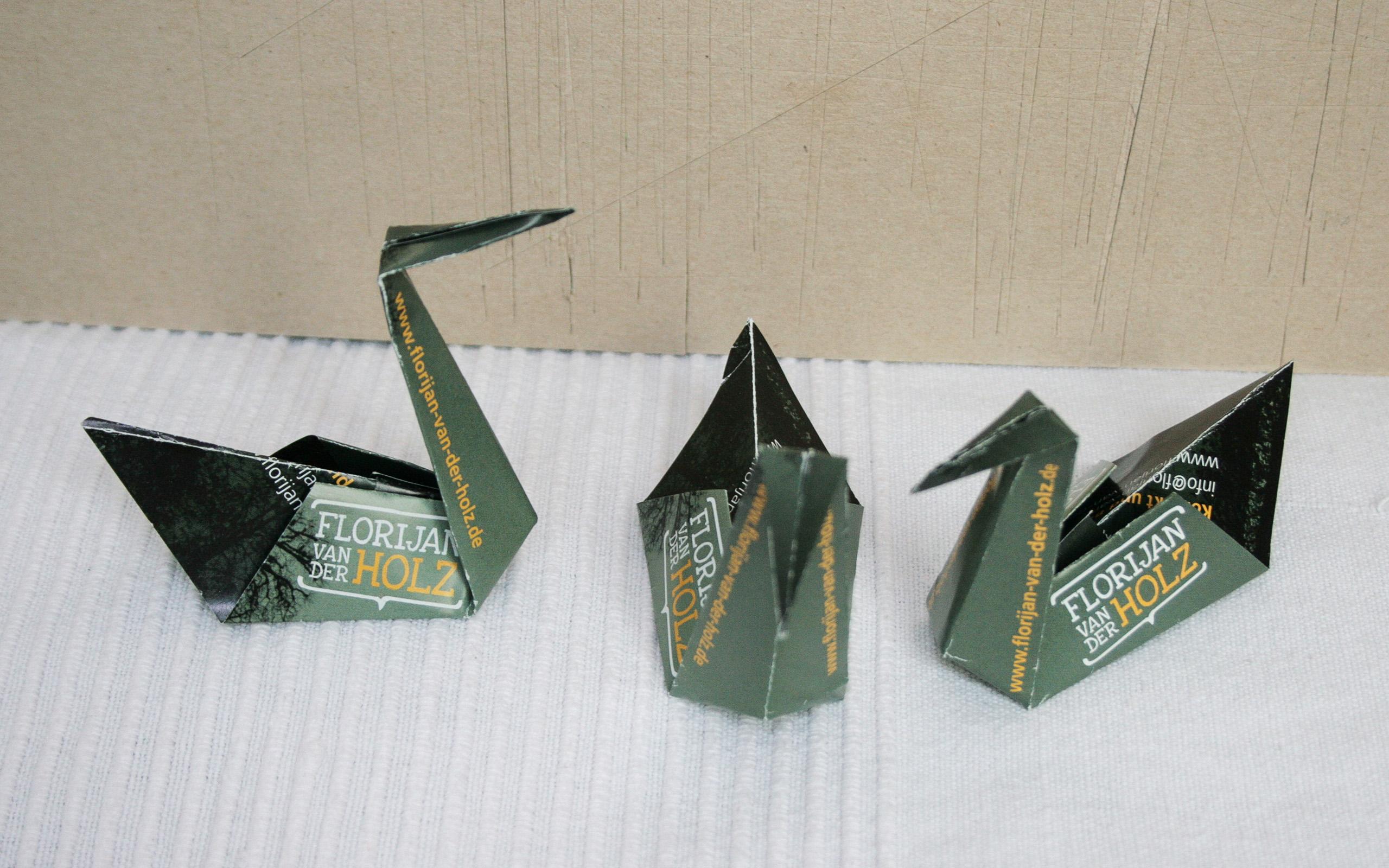 Origamischwäne Florijan van der Holz