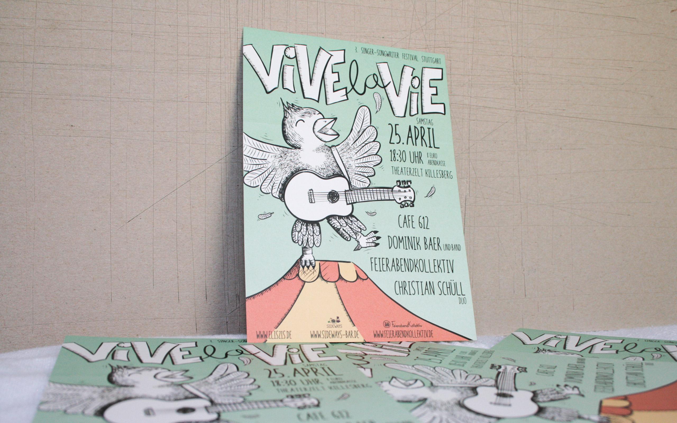 Vive la Vie Plakat 2015 Nahaufnahme