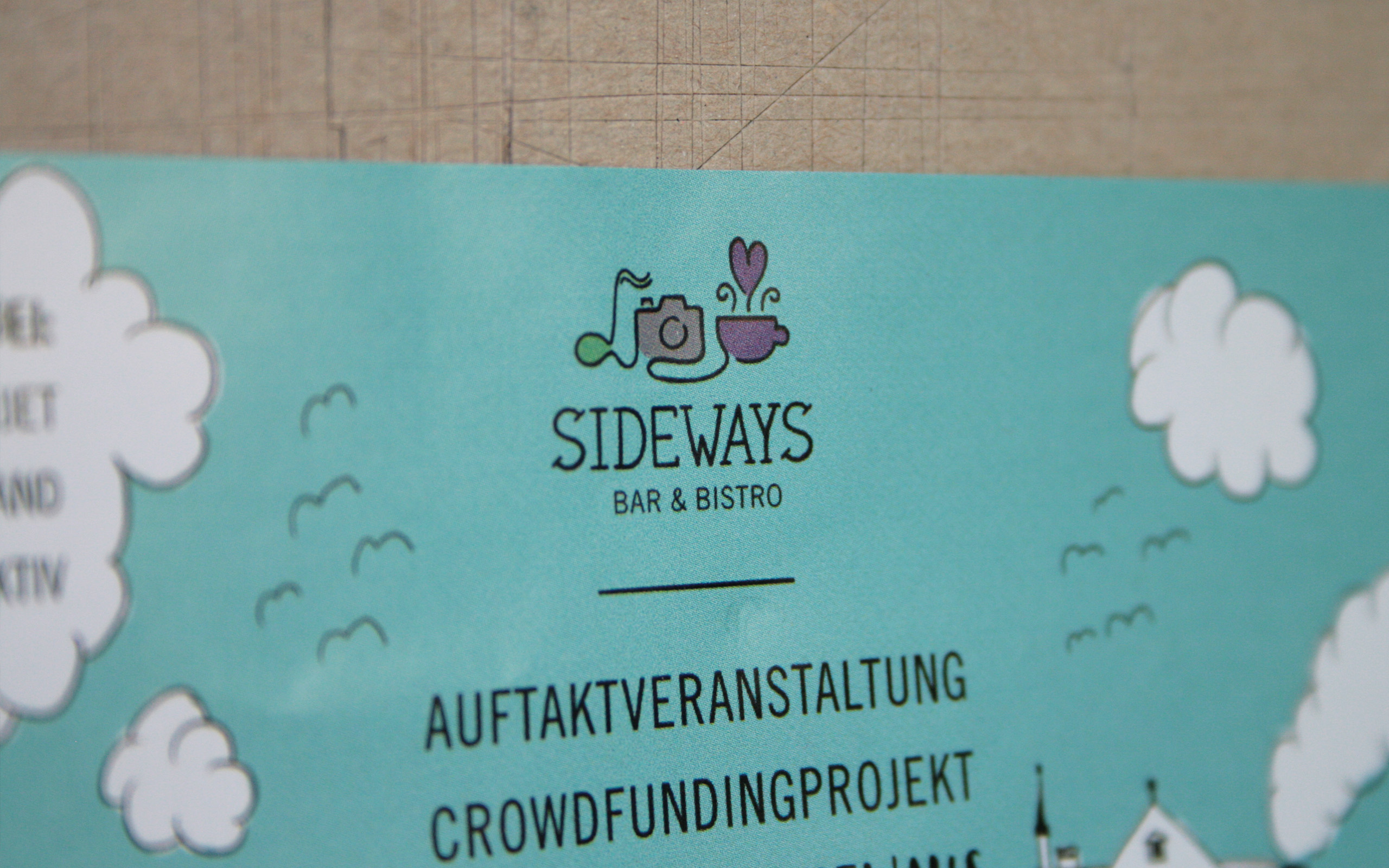 Sidways Crowdfunding Flyer Detail