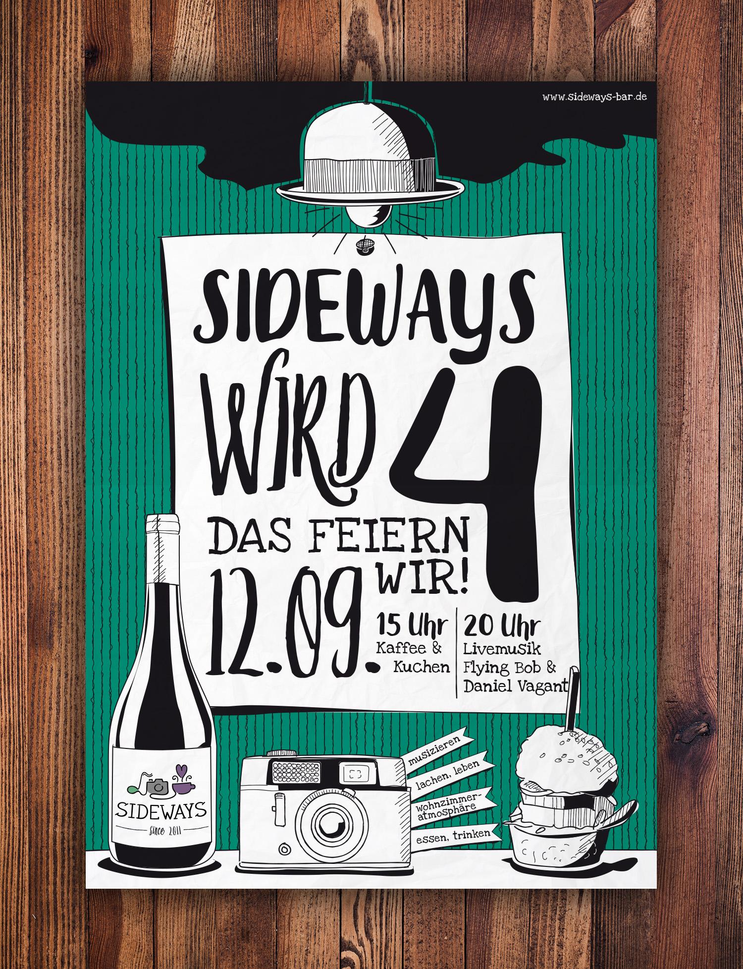 Sidways Jubiläumsplakat