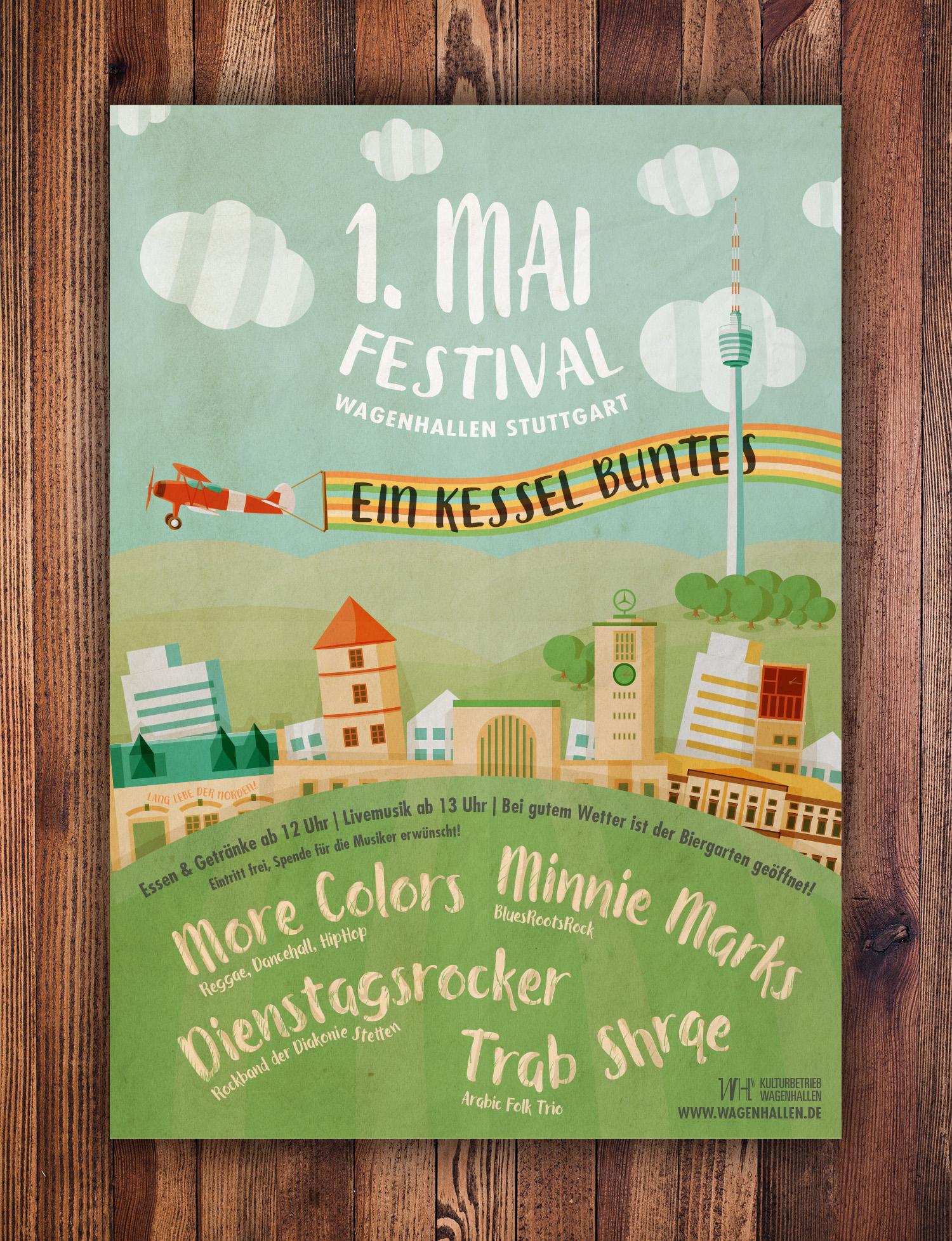1. Mai Festival Plakat