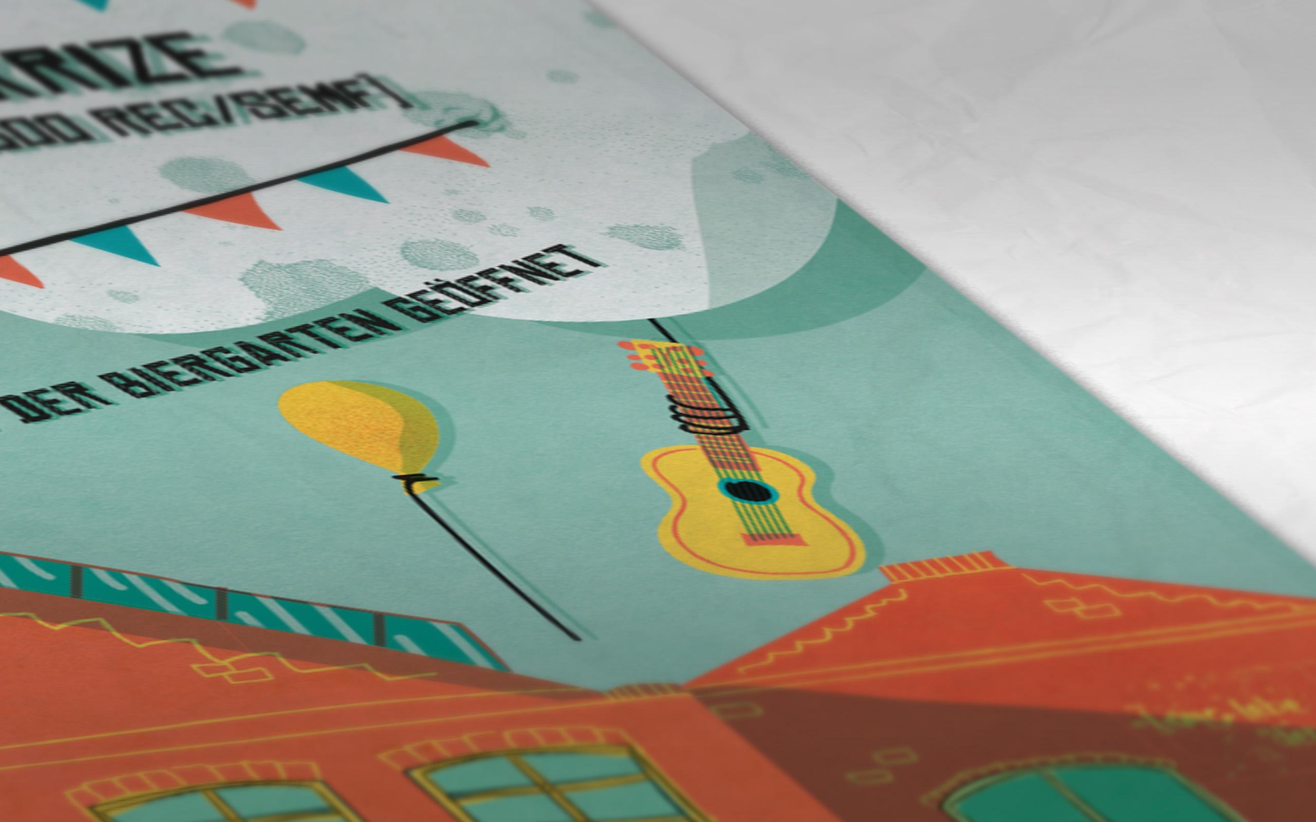 Wagenhallen Sommerfest Plakat Detail